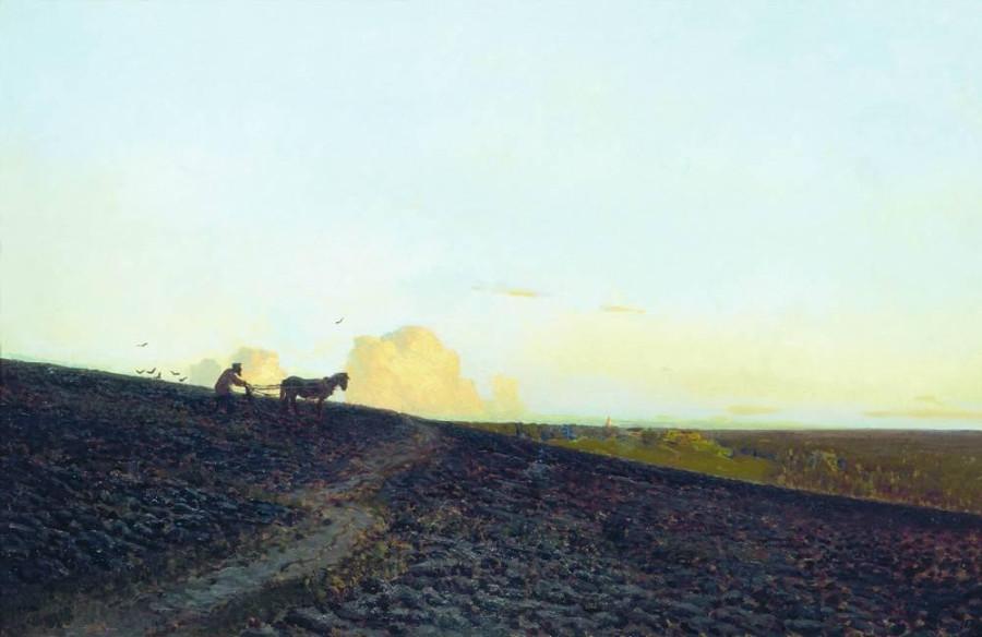 1 Вечер на пашне. 1883