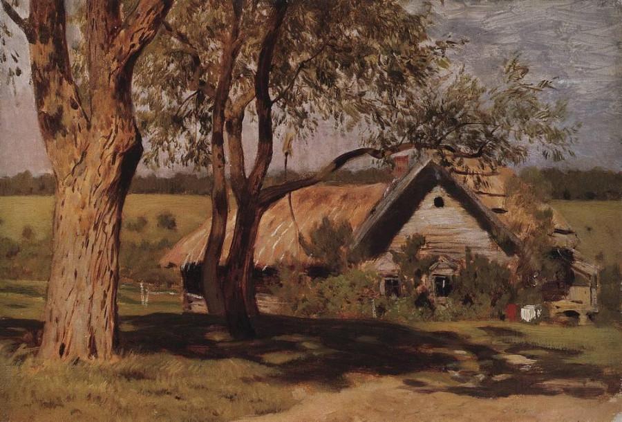 Домик с ракитами. Первая половина 1880-х