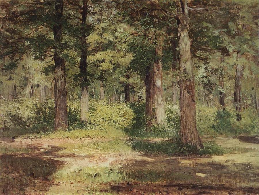 Лес. Солнечный день.. 1883-1884