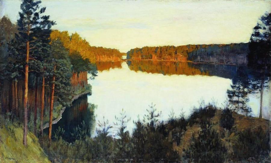 Лесное озеро. 1890-е