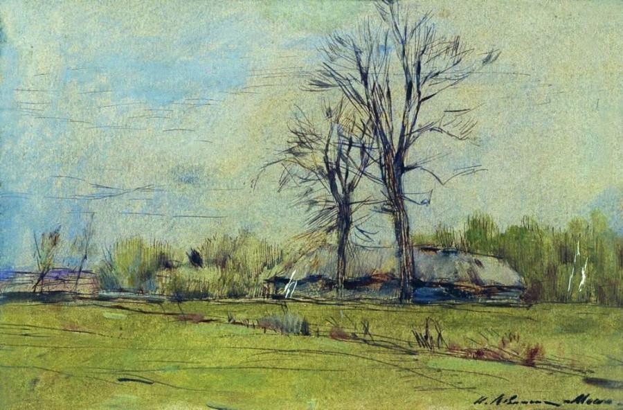 Мелихово весной