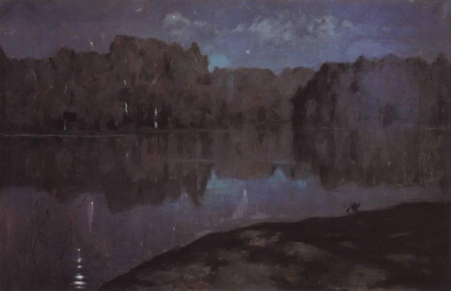 Ночь. Берег реки. Конец 1890-х