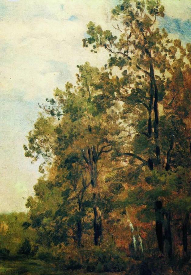Опушка леса. Первая половина 1880-х
