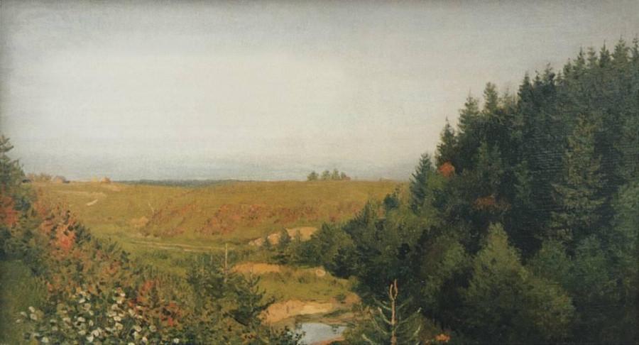 Пейзаж с лесной рекой. 1880-е