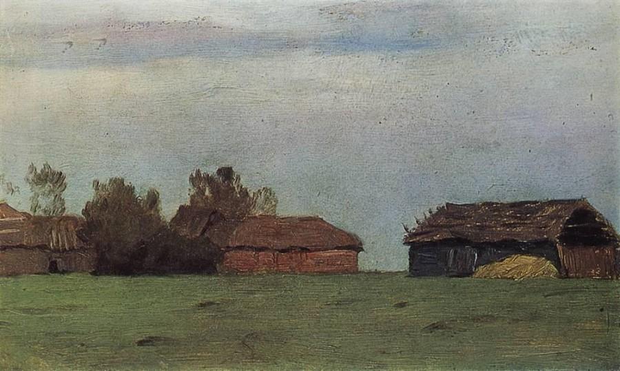 Пейзаж с постройками. 1890-е