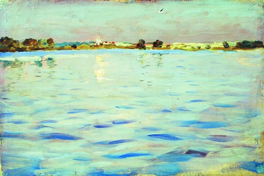 Последние лучи. Озеро. 1898-1899