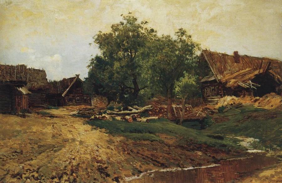 Саввинская слобода под Звенигородом (летний вид). 1884