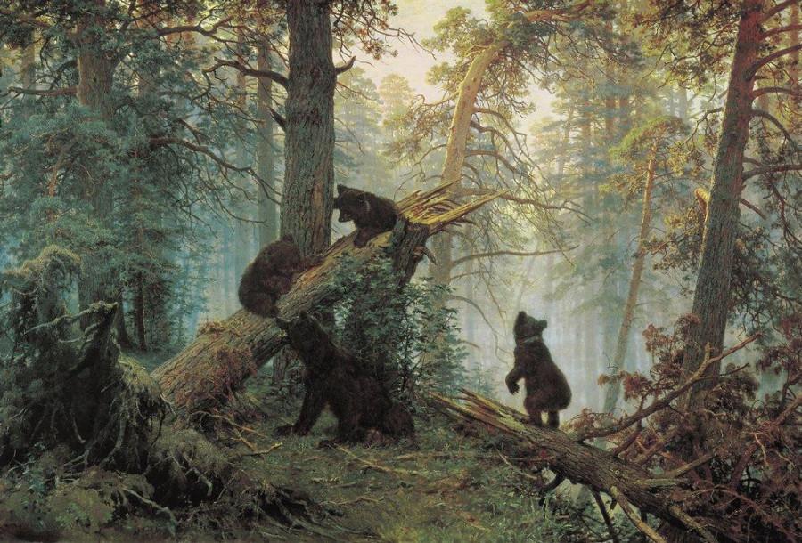 2 Утро в сосновом лесу. 1889.jpg