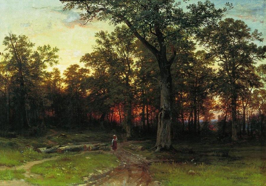 6 Лес вечером. 1868-1869.jpg
