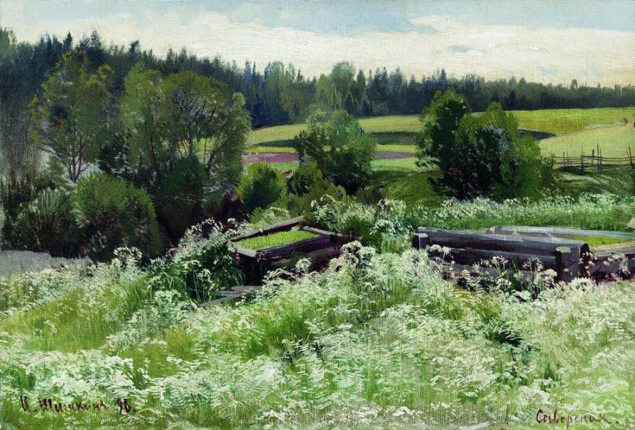 В Сиверской. 1896.jpg