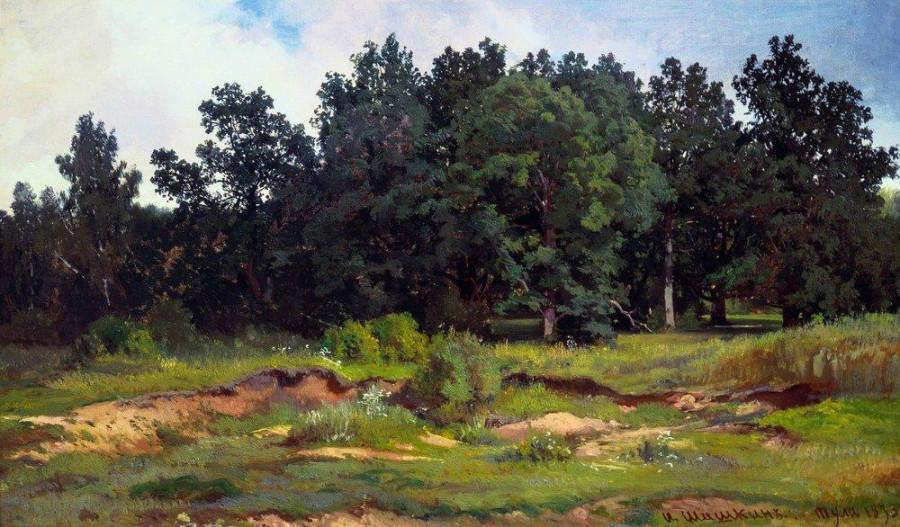 Дубовый лесок в серый день. 1873.jpg