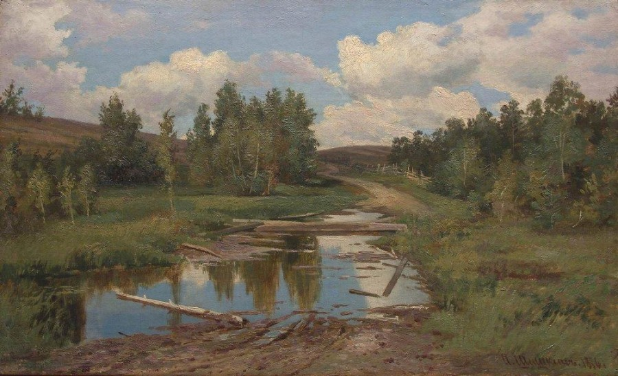 Лесной пейзаж. Дорога. 1876.jpg