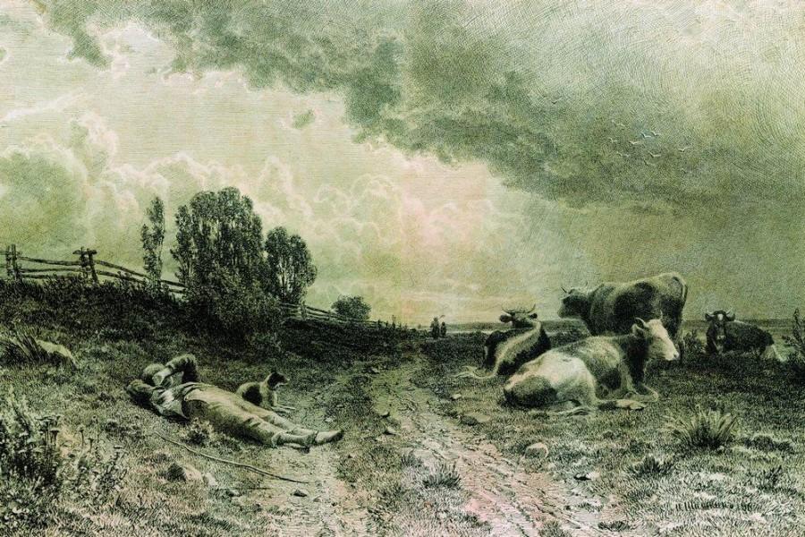 Летом в поле (Пейзаж со стадом). 1860-е.jpg
