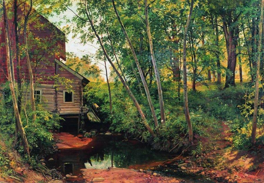 Мельница в лесу. Преображенское. 1897.jpg