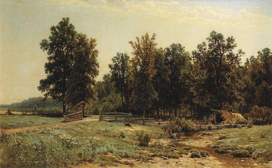 На окраине дубового леса. 1882.jpg