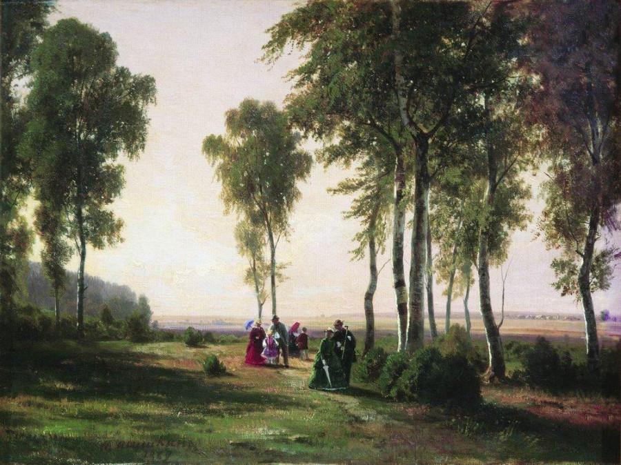 Пейзаж с гуляющими. 1869.jpg
