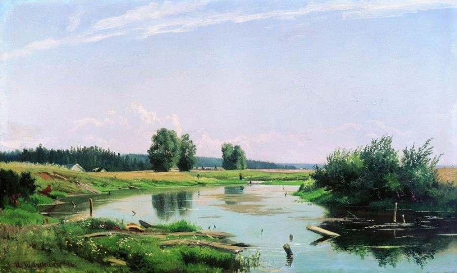 Пейзаж с озером. 1886.jpg