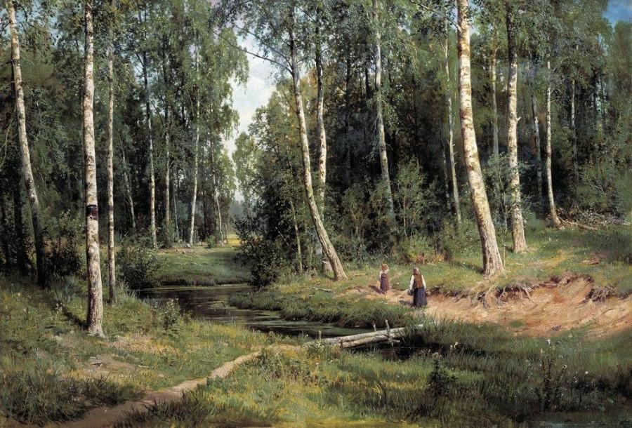 Ручей в березовом лесу. 1883.jpg
