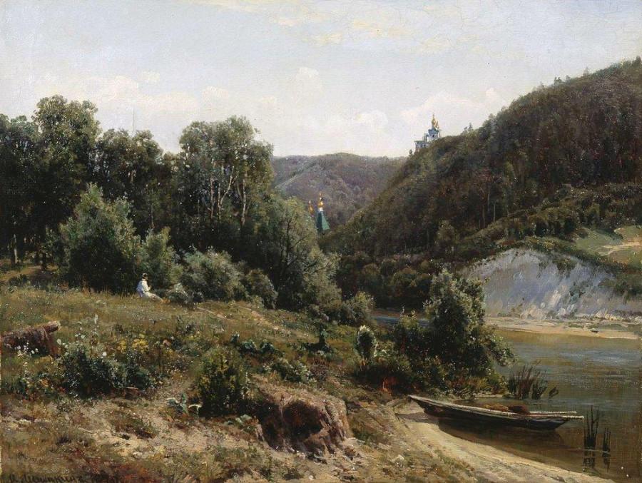 У монастыря. 1870.jpg