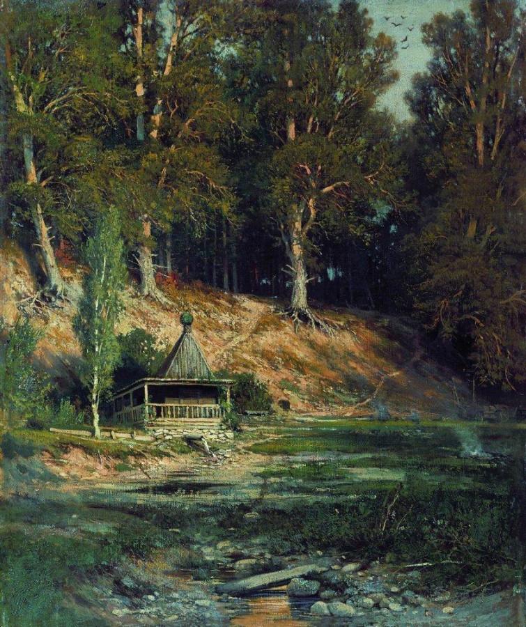 Часовня в лесу. 1893.jpg