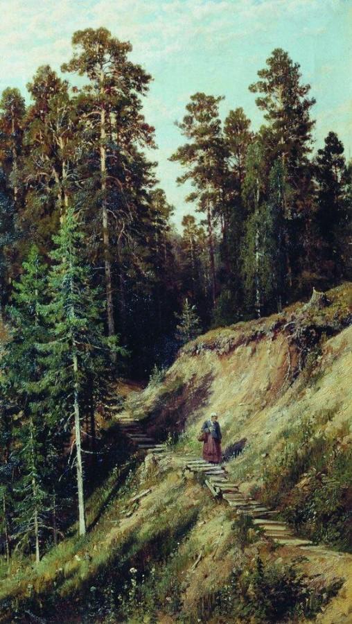 В лесу. Из леса с грибами. 1883