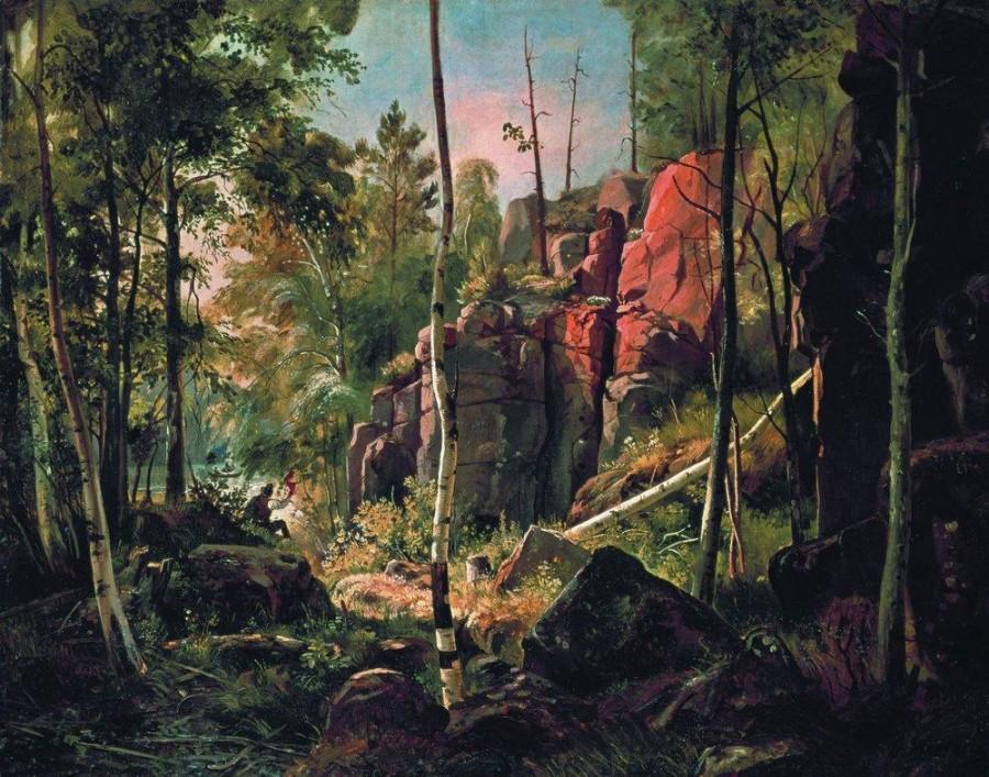 Вид на острове Валааме (Местность Кукко). 1859-1860