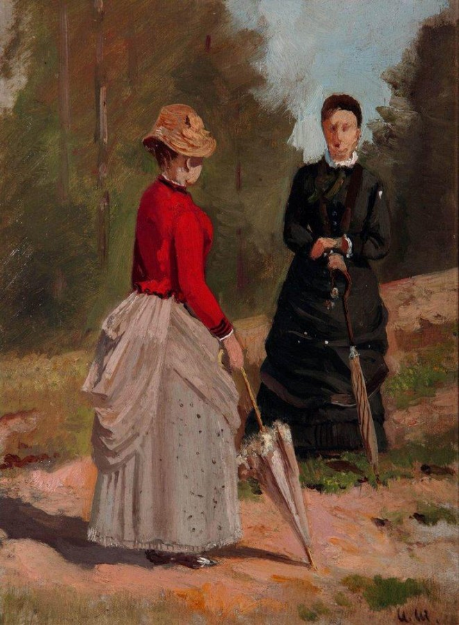 Две женские фигуры. 1880-е