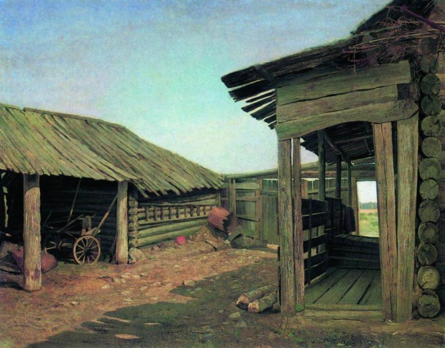 Деревенский двор. Конец 1860-х