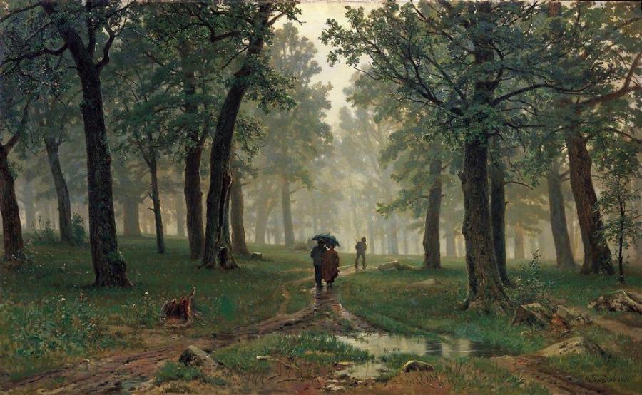 Дождь в дубовом лесу. 1891