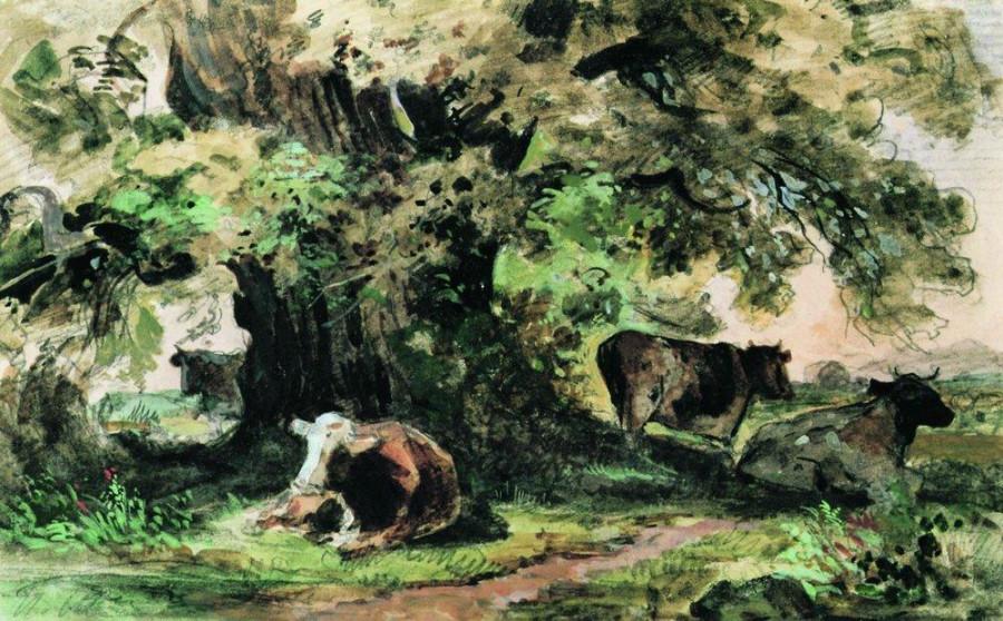 Коровы под дубом. 1863