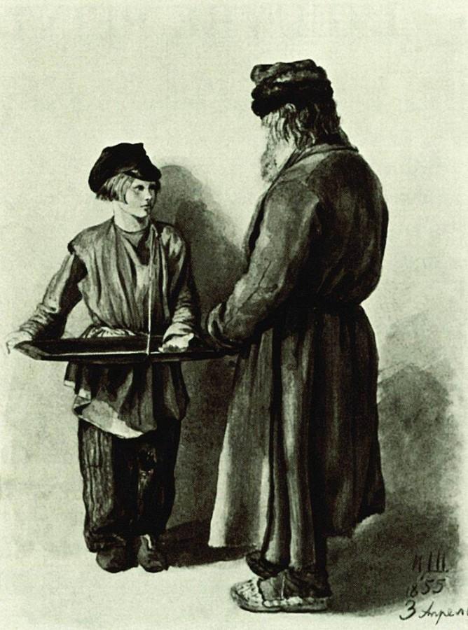Крестьянин и разносчик. 1855