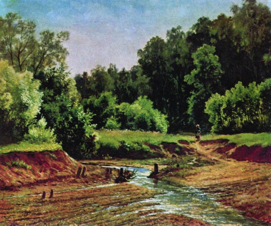 Лесной пейзаж. 1872
