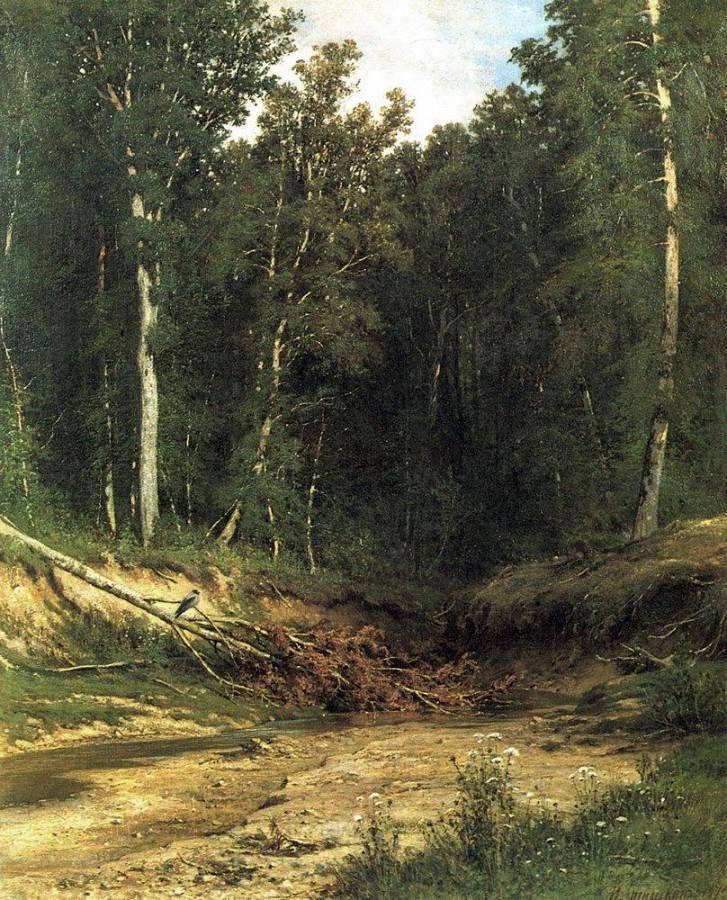 Лесной ручей (Чернолесье). 1874