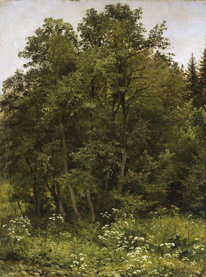 На опушке. 1885