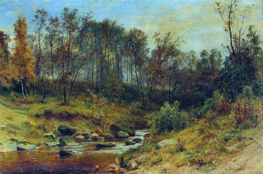 Ручей в лесу. 1896