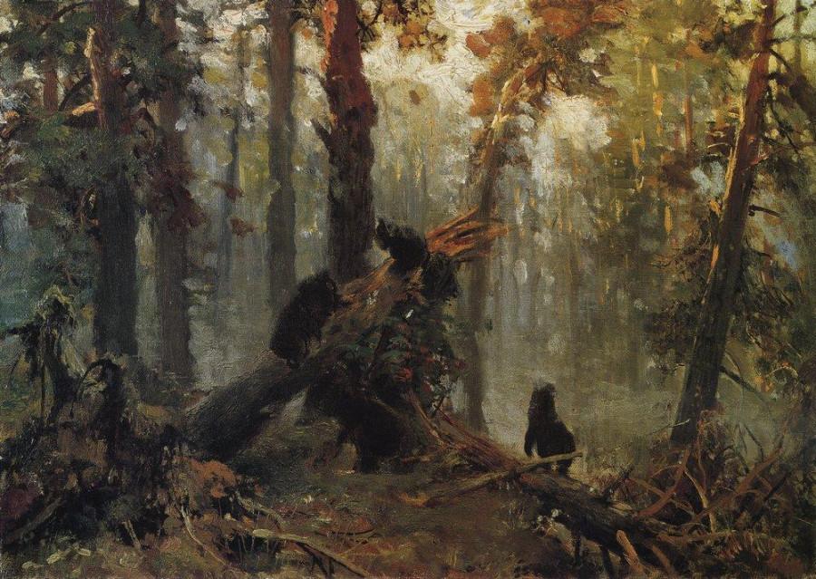 Утро в сосновом лесу. Конец1 1880-х