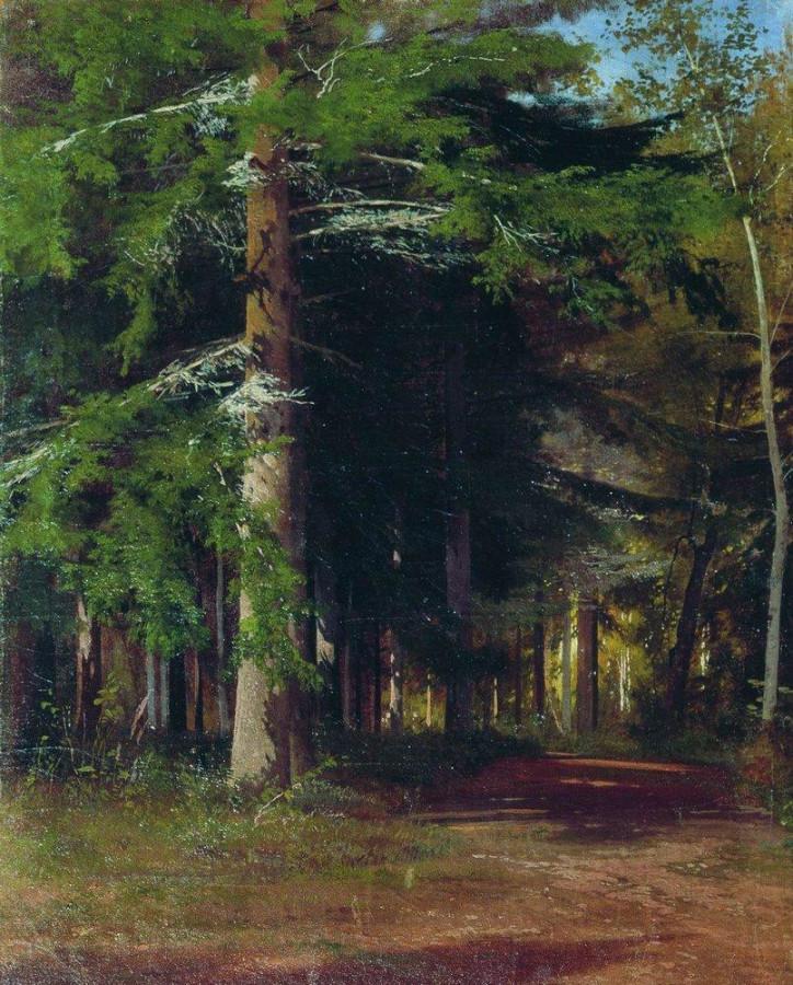 Этюд к картине Рубка леса. 1867