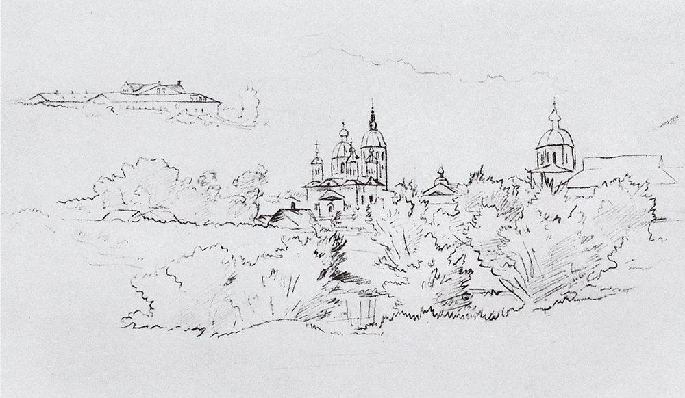 Вид Елабуги. 1861