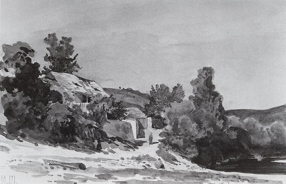 Деревня Троя около Праги. 1860-е