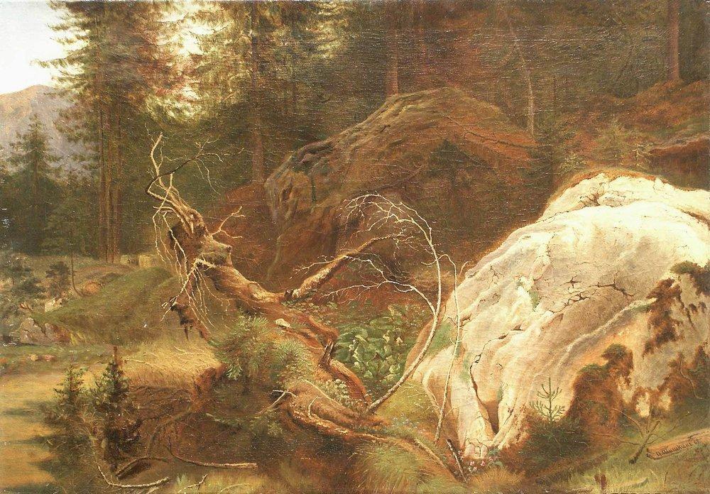Камни в лесу. 1865
