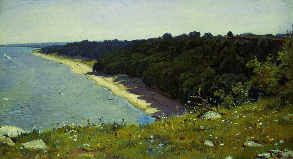 По берегу моря. 1889