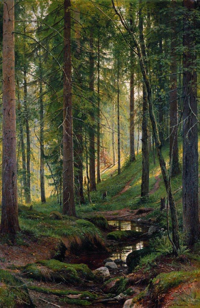 Ручей в лесу (На косогоре). 1880