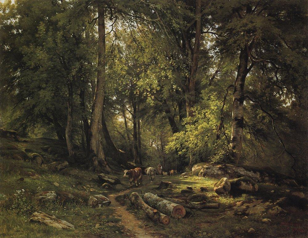 Стадо в лесу. 1864