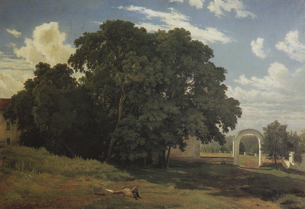 У церковной ограды. Валаам. 1867