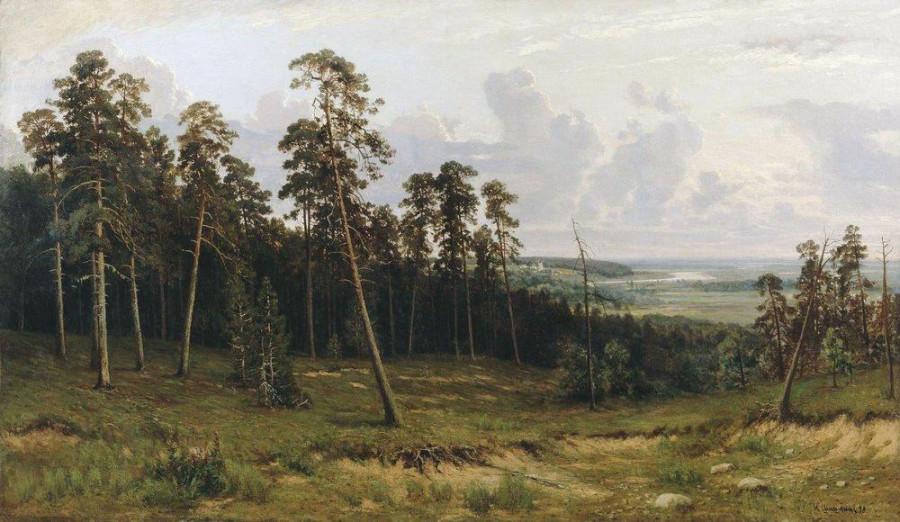 Богатый лог (Пихтовый лес на реке Каме). 1877