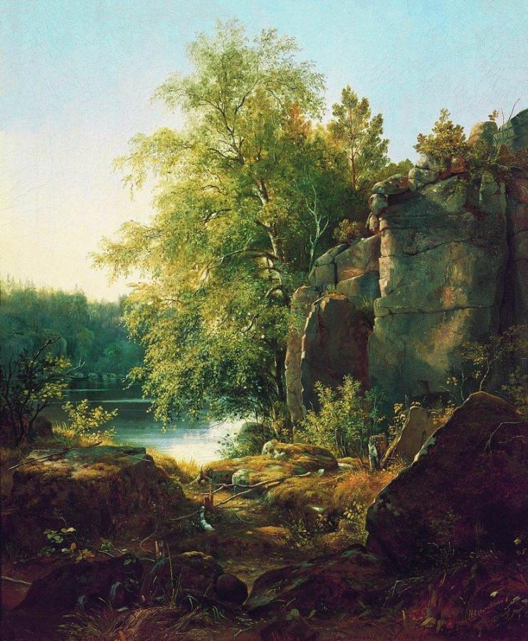 Вид на острове Валааме. 1858