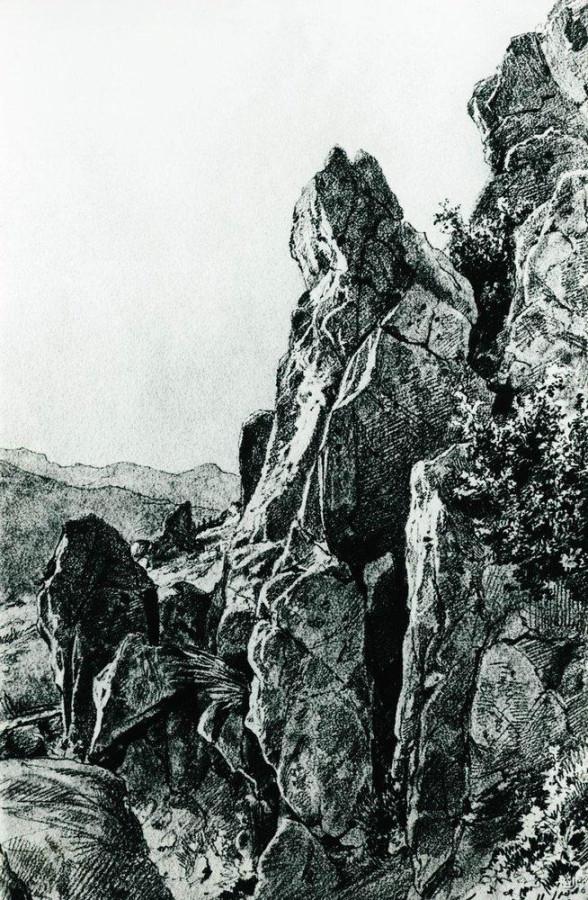 Гурзуф. Скалы. 1879