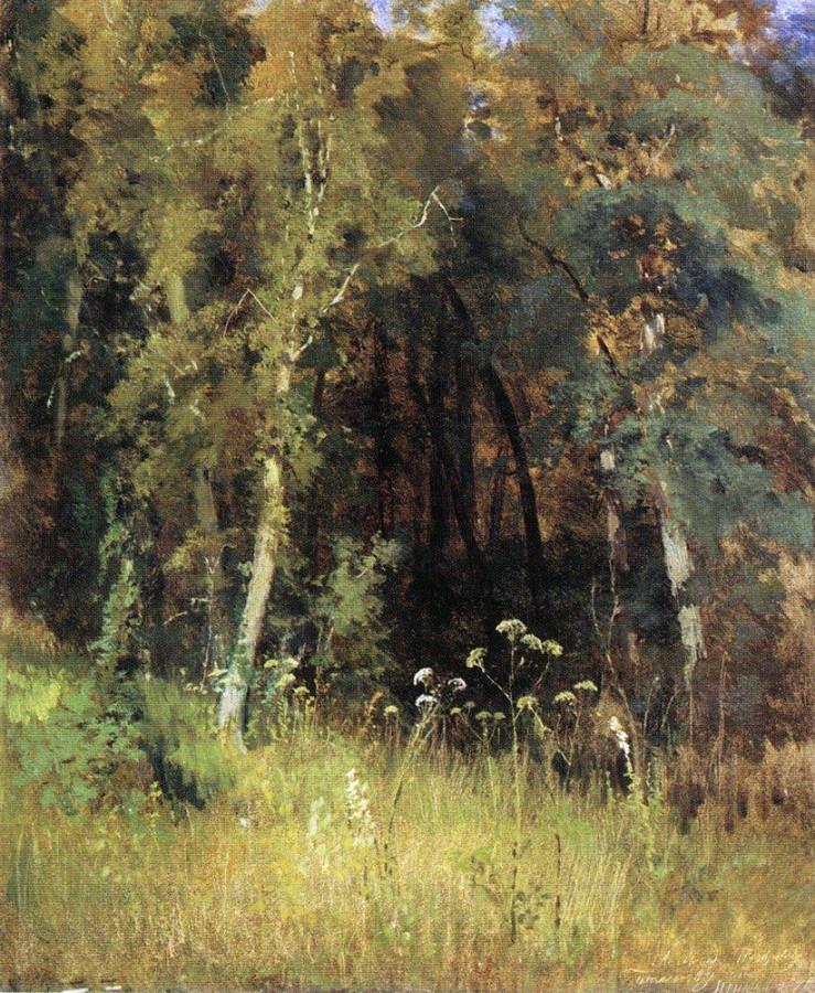 Лесная чаща. 1874