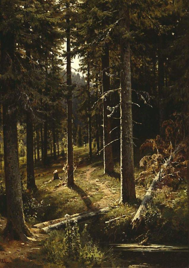 Лесной пейзаж. 1889-1890