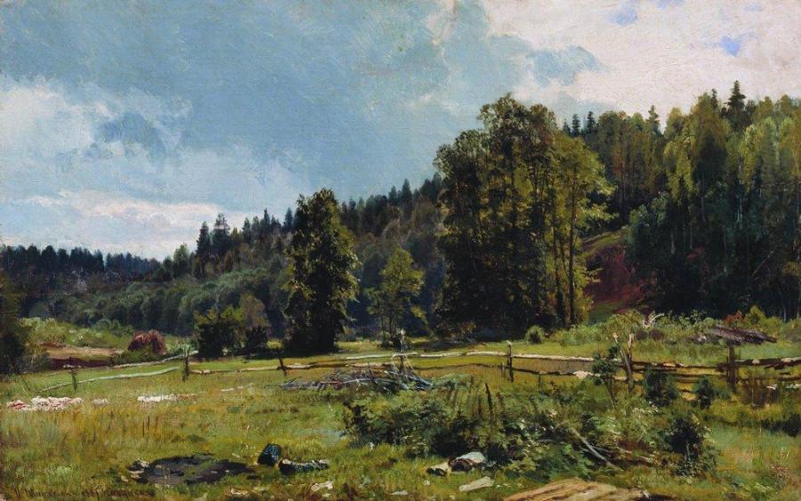 Луг на опушке леса. Сиверская. 1887